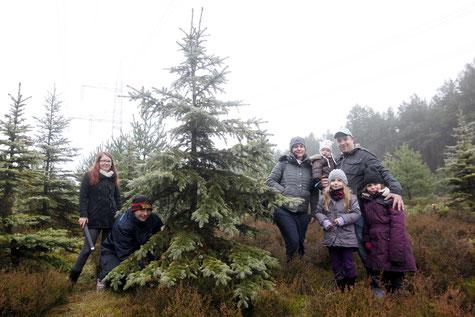 Fündig geworden: Die Beelitzer Familien Lukat und Schilling/Kallenbach.