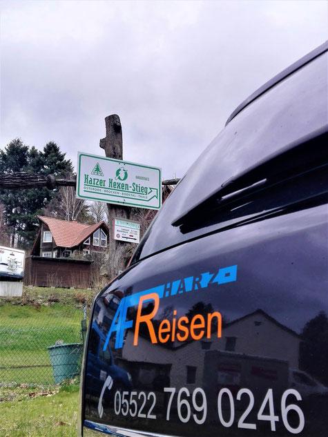 Wander-Shuttle - hier am Harzer-Hexen-Stieg Start/Ziel in Osterode