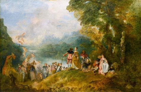 Embarquement pour Cythère, Jean-Antoine Watteau (1717)