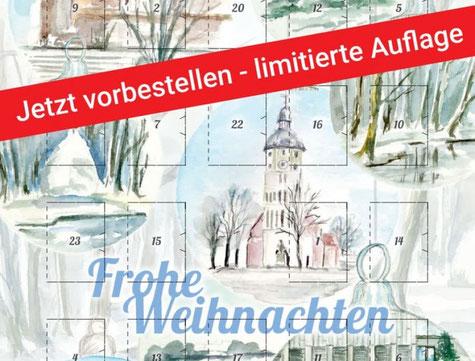 Der 1. Lübbener Adventskalender erschien 2020 und war schnell ausverkauft. Foto: TKS Lübben GmbH