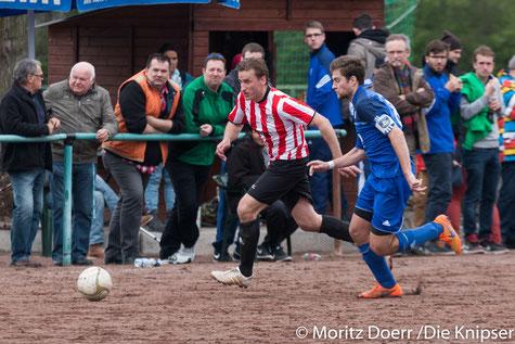 Steffen Mahnhardt in rot für den FSV gegen den Abenheimer