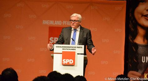 Frank-Walter Steinmeier bei seiner Rede im Wormser.