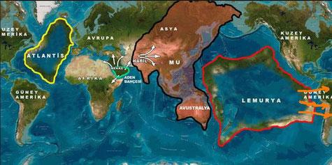 La cartographie de l'histoire civilisationnelle secrète par le chef Hopi Ours blanc - Cliquer pour agrandir