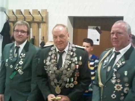 von links nach rechts: Felix Albert, Bernd Schumacher, Michael Kilb
