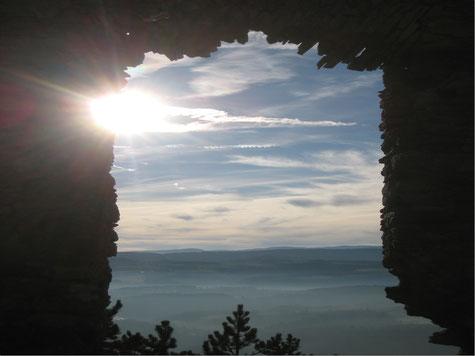 Sonne beim Türkensturz, in die Stille gehen und Kraft tanken