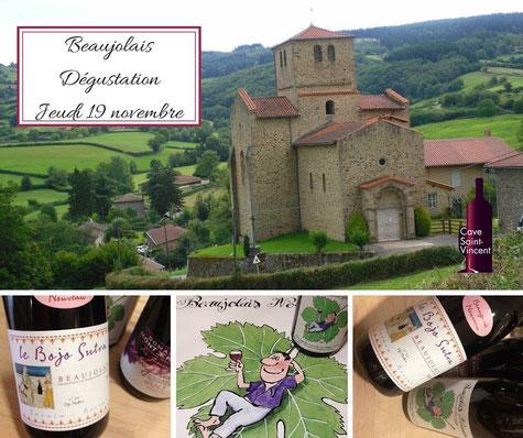 Dégustation Beaujolais Cave Saint Vincent La Teste