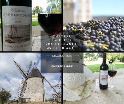 Dégustation de vins Cave Saint Vincent Château La Fleur Grands-Landes