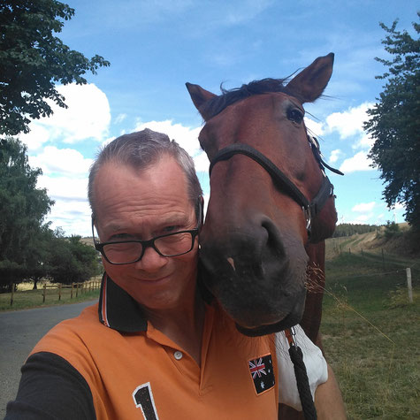 The photographer and his horse