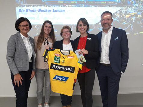Adviva Unternehmerinnen Treffen mit  Rhein-Neckar-Löwen