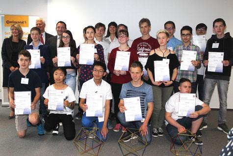 Die Sieger und Siegerinnen des Hessischen Mathematikwettbewerbs 2017-2018