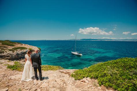 Life-Time.Events Hochzeitsfotografie Meer Segelschiff Mallorca