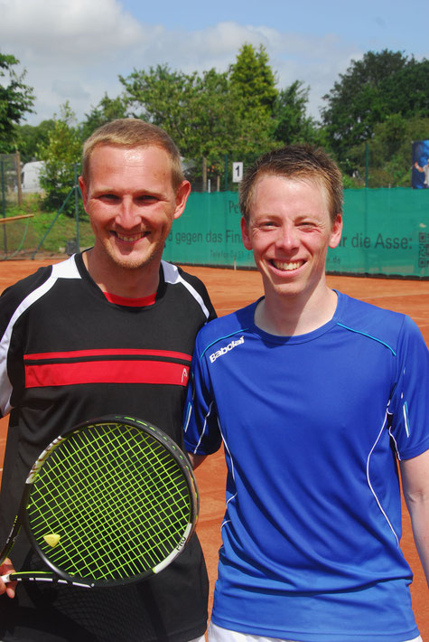 Herren 30 - Finale:  Sascha Westendorf (TG Raisdorf) und Arne Bieler (TG Raisdorf /2.)