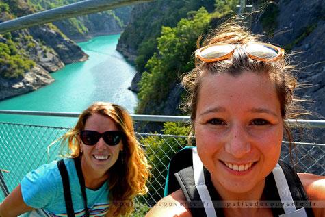 Passerelle du drac, isère , lac monteynard, petite découverte rhone-alpes