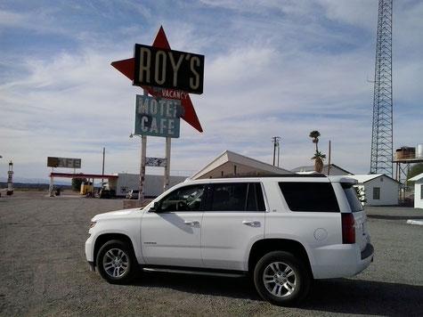 Bild: California, HDW-USA, Roadtrip, Amerika, Mister T. und der Weiße Büffel, Route 66, Interstate 40, Roy's Cafe