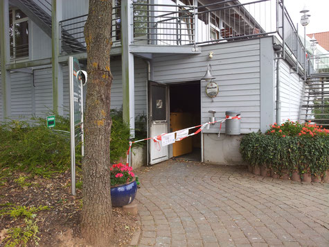 Brandschaden in der Caddyhalle des Golfclubs Donnersberg