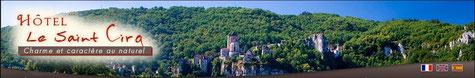 Hôtel le saint cirq lapopie à tour de faure .Département du Lot, aventure 46 en midi Pyrénées.Hébergement de charme.France