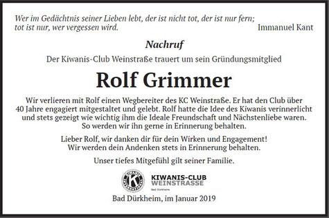 unser Nachruf in der Rheinpfalz vom 26. Januar 2019