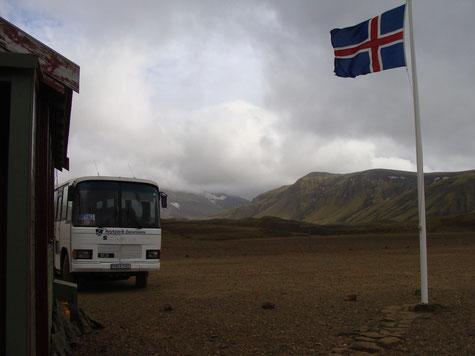 Ankunft in Alftavatn. Der Start (bzw. mein Tourstart) in Richtung Hekla.
