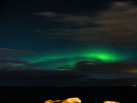 A nice moving northern light in direction north.