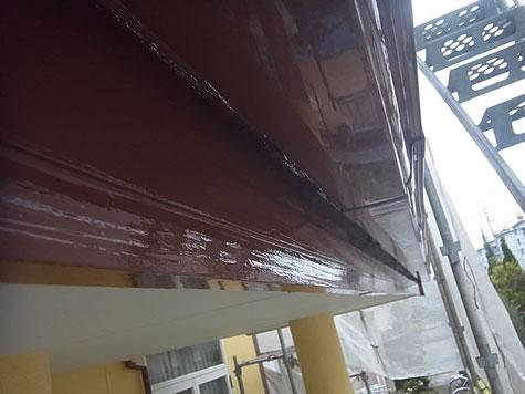 熊本市N様家外壁塗装木部塗装完成。カプチーノブラウンカラー使用。