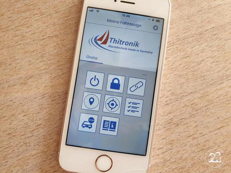 Alarmanlage im Wohnmobil Leni und Toni Reisemobil App für Alarmanlage