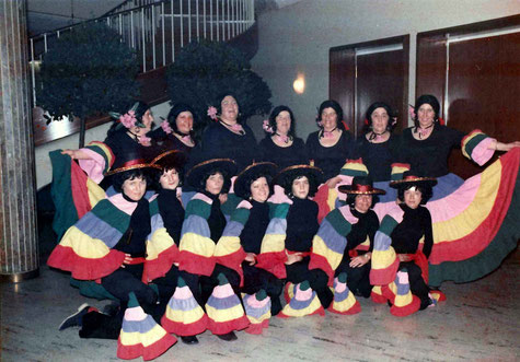 Pappmule in der Stadthalle 1974