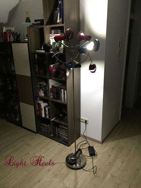 LED, Schuhleuchten, Schuhlampen, Stehleuchten, Stehlampen, Dimmbar, Fernbedienung