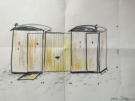 Individuell Toilette planung beratung gestaltung design holz alternativ spezial, öffentliche Toilette, handycap toilet, rollstuhlgängige Toilette, trockentoilette, mietwc, humustoilette, Trenntoilette