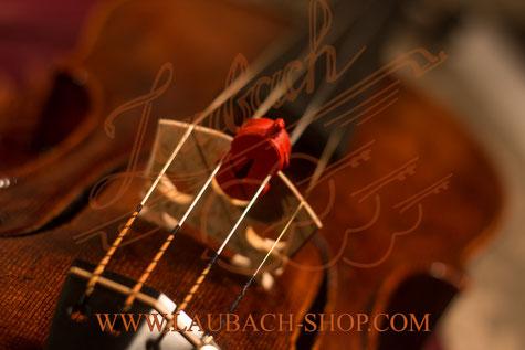 Сурдина скрипичной формы  цветная красная