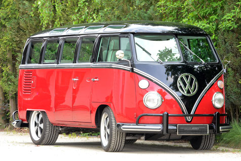 VW Bus T1 conversion SAMBA with Porsche 3.6 l technology in German Business Style