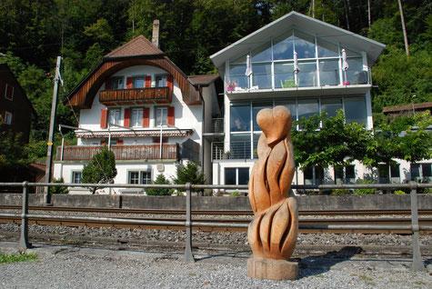 Herz in Flammen, Skulptur von Sandra Rainer, Symposium 2015