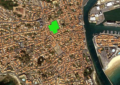L'emplacement de l'ancien lycée Tabarly sur une vue satellite Google.