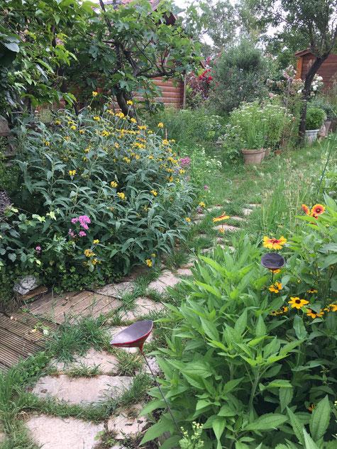 cours d'aquarelle à Aix en Provence. atelier de peintre et son jardin.