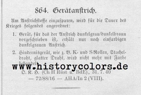 Heeresmitteilung (H. M.) Nr. 864