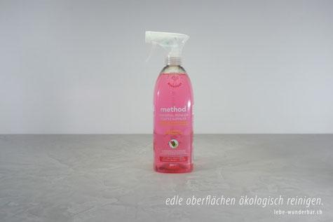 Reinigen von edlen Oberflächen #umweltfreundlich #ohne tierversuche #nachhaltig #grapefruit-duft #lebewunderbar #zürich