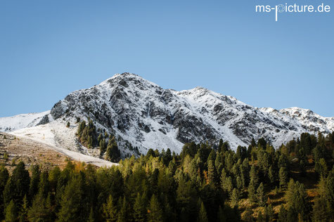 Speikboden mit Schnee Ahrntal Südtirol