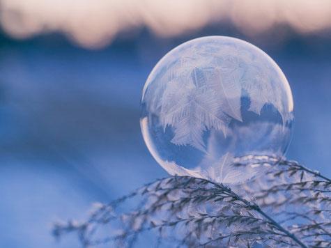 bubble soap frozen