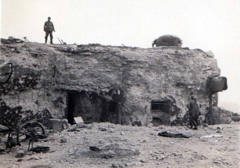 Le bloc entrée du Haut-Poirier, après les combats (coll. Sébastien Schlegel)