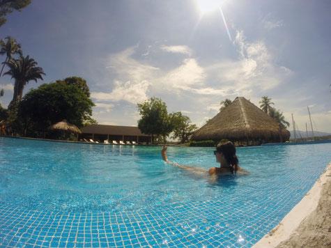 Den Pool in der Nana Juana Marina hat man meistens für sich alleine
