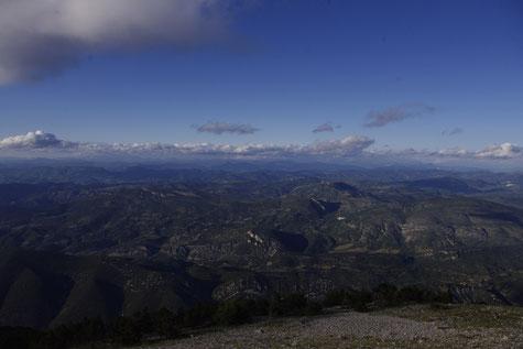 360° Blick auf dem Ventoux Gipfel