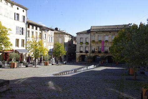 Der Mallet Platz in Bagnols-sur-Cèze