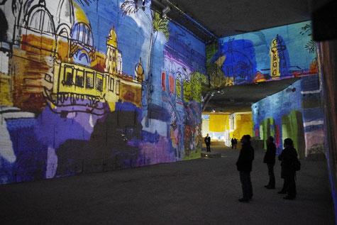 Die carrières de Lumières in les Baux de Provence