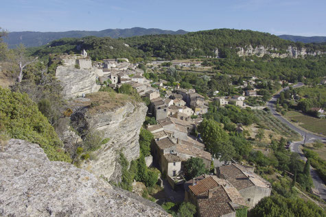 Saignon, overview from the rocher de Bellevue rock