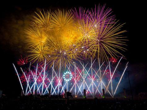 Ein grossartiges Feuerwerk in Monteux