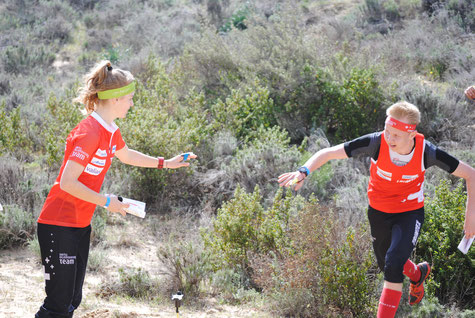 during a relay training in Spain, photo Christine Lüscher