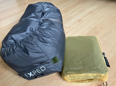 Zelt im Burrito Bag und das Footprint