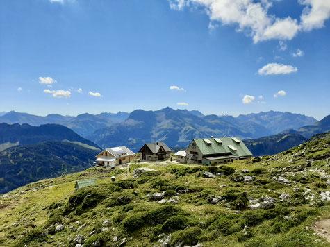 Mindelheimer Hütte, unser Ziel für diese Tour