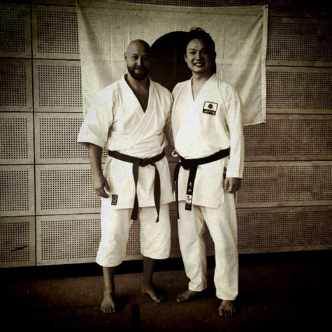 links: Erol Alp, rechts: Sensei Ayumu Kameyama, Instructor of Japan and Nationalcoach