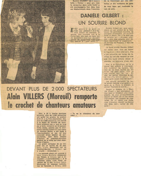 L'article du Courrier Picard du 14 juin 1971