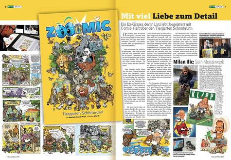 """Milan A. Ilic - Bericht über """"Zoomic"""" im steirischen KLIPP-Magazin"""